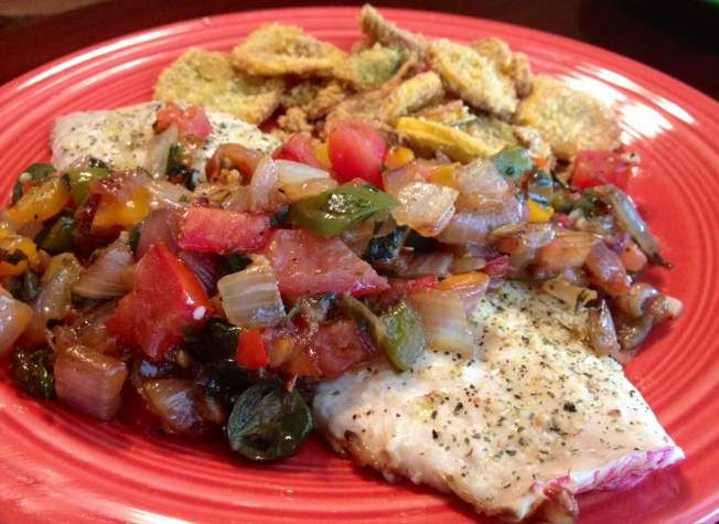 Roasted Red Snapper With Veggies